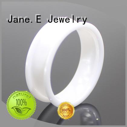 JaneE scratched resistant titanium ring blanks popular design for women