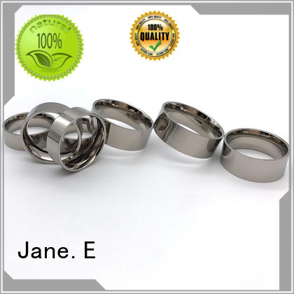 sparkle sandblasting black titanium ring for wood crafts factory direct for anniversary