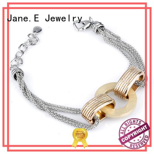 JaneE stainless steel womens bracelet manual polishing for hands wear