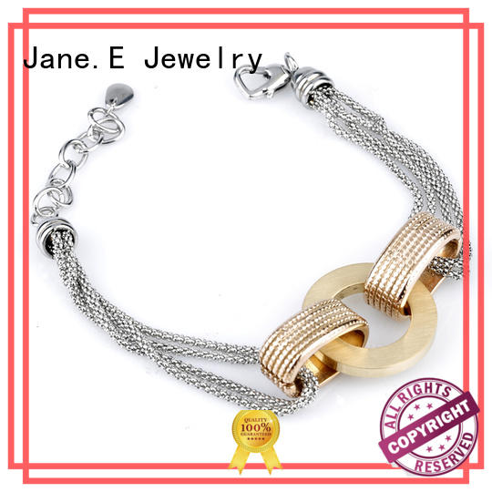 JaneE stainless steel womens bracelet manual polishing for hands wear