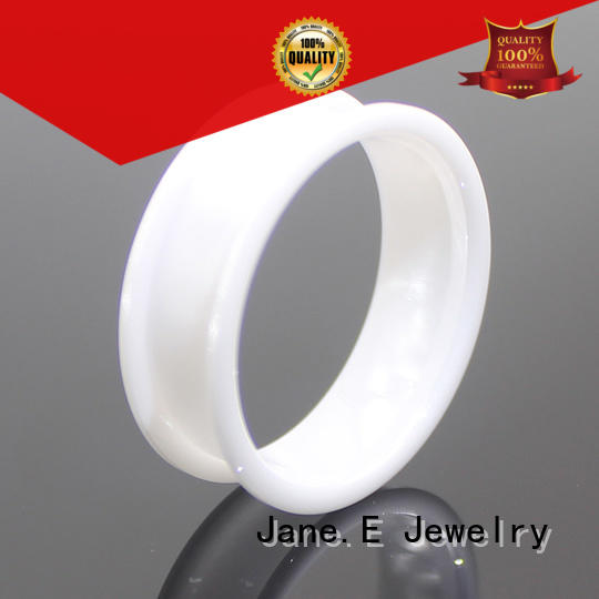 fashion black tungsten carbide rings brown silver for gift