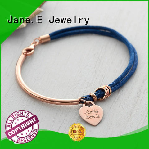JaneE nylon stainless steel rope bracelet exquisite for women