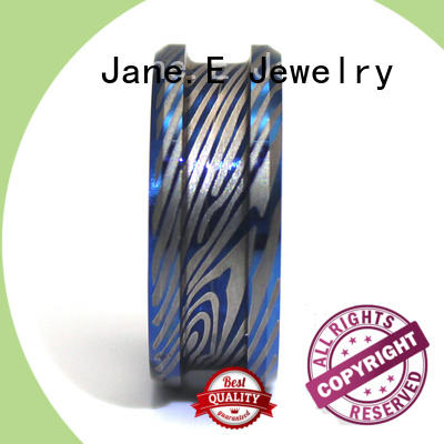 JaneE inlay stainless steel ring core matt for decoration