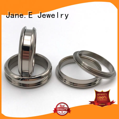 JaneE 316l stainless steel custom made titanium rings wholesale for engagement