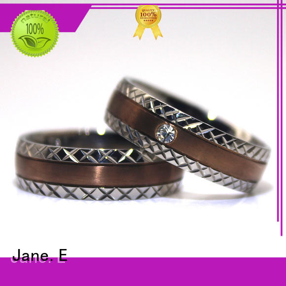 JaneE factory direct simple stainless steel rings top quality for men