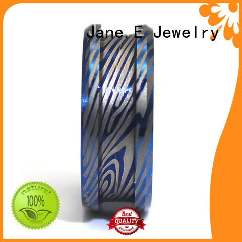 JaneE scratched resistant titanium ring blanks matt for gift