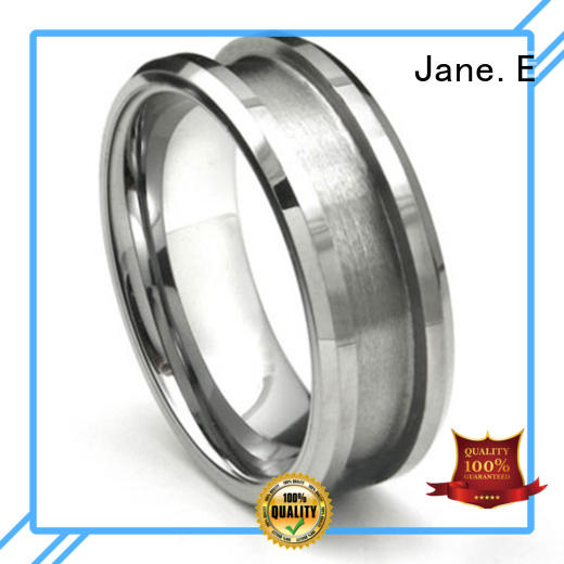 fashion titanium wedding rings brown silver for engagement