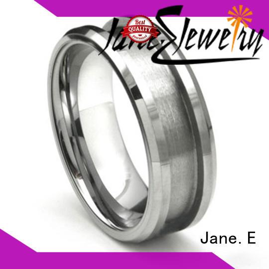 unique design gold tungsten ring two tones matt for wedding