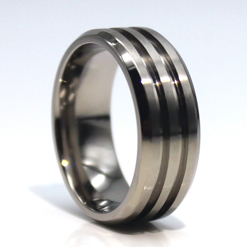 JaneE inlay brushed custom tungsten ring matt for engagement-5