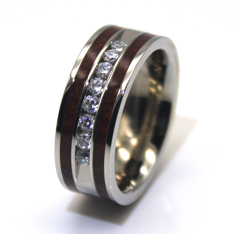 square edges surgical steel engagement rings plated comfortable for men-2