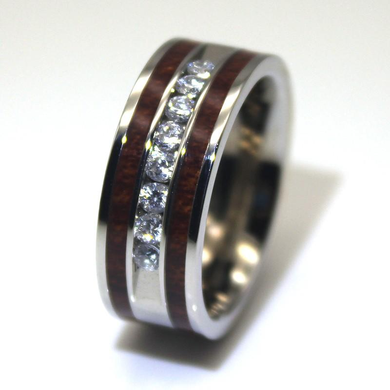 shiny black steel ring top quality for weddings