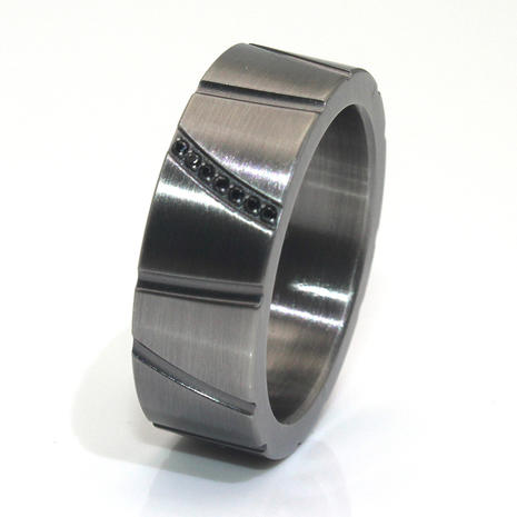 Gunmetal plated 316l Stainless Steel Ring  Men's Wedding Band