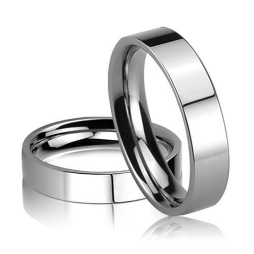 Shiny Polished finish 316l Steel Band Ring core
