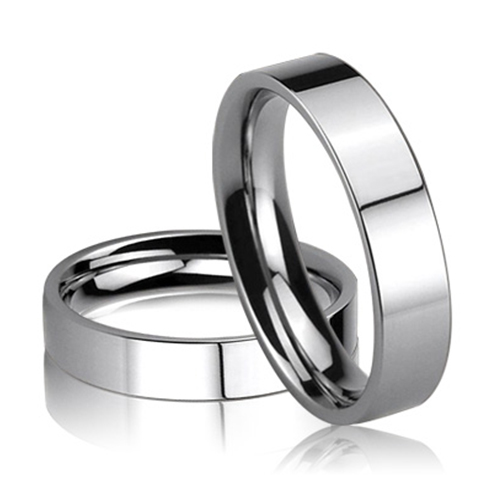 JaneE square edges women's stainless steel wedding rings fashion design for decoration-2