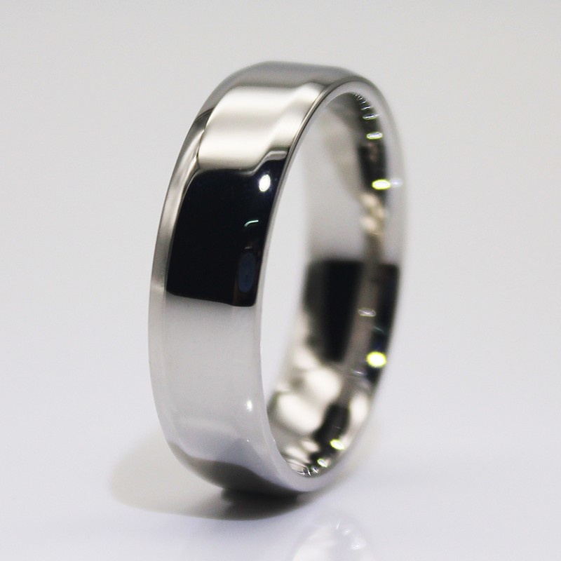 JaneE square edges women's stainless steel wedding rings fashion design for decoration-3
