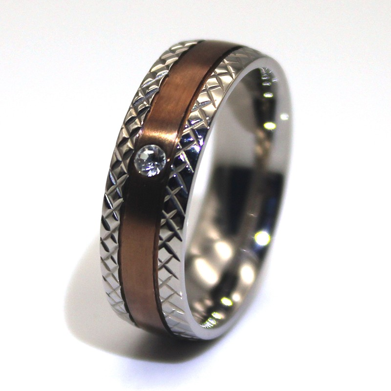 square edges stainless steel band 316l steel fashion design for men-2