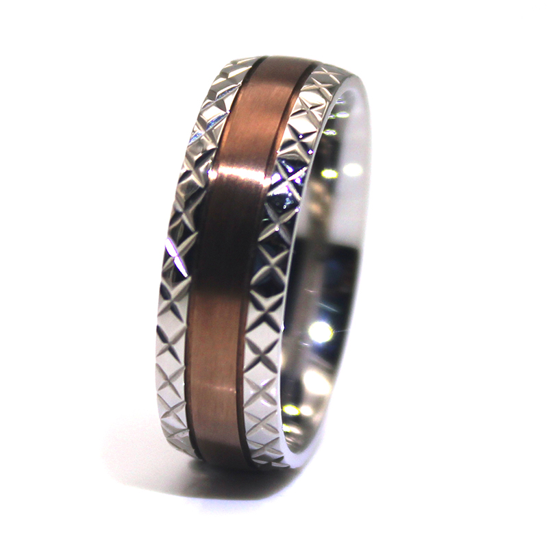 square edges stainless steel band 316l steel fashion design for men-3