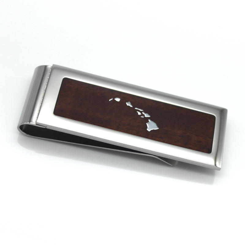 JaneE plain stainless steel money clip adjustable for men's wallet