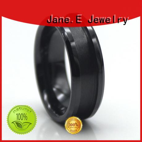 Titanium titanium engagement rings inlay for gift JaneE
