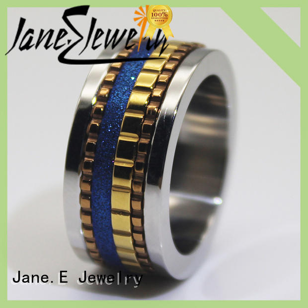 black stainless wedding band fashion design for weddings JaneE