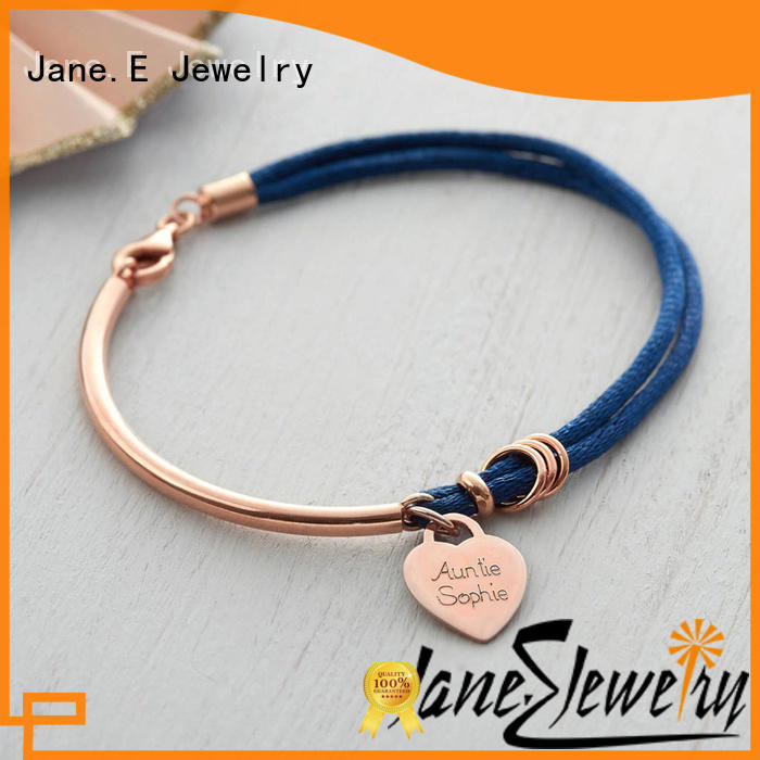 customized name logo mens rope wristbands high quality for anniversary JaneE