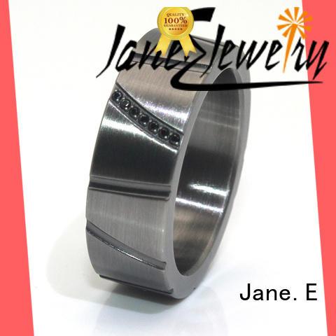 JaneE milgrain custom stainless steel ring fashion design for decoration