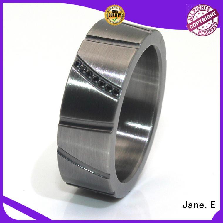 damascus 4mm titanium ring nylon for men JaneE