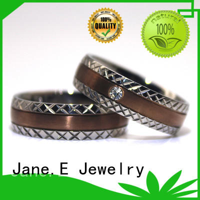 JaneE inlay 2 pieces ring blanks for inlay matt for wedding