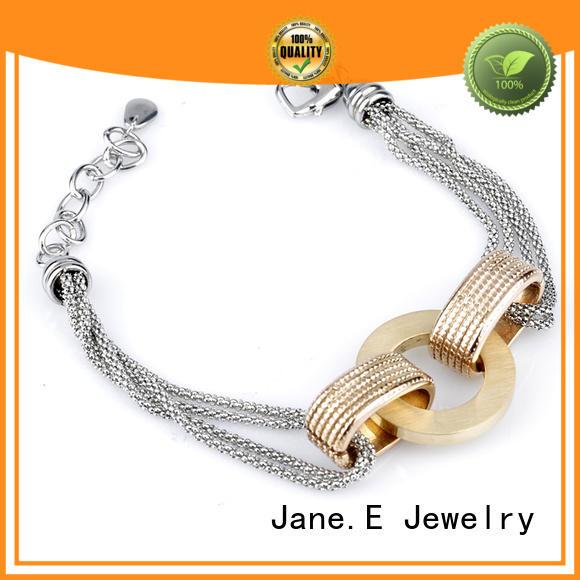 JaneE manual polishing steel bracelet wholesale for hands wear