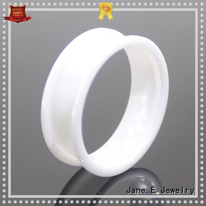 JaneE no plating ceramic mens ring exquisite supplier