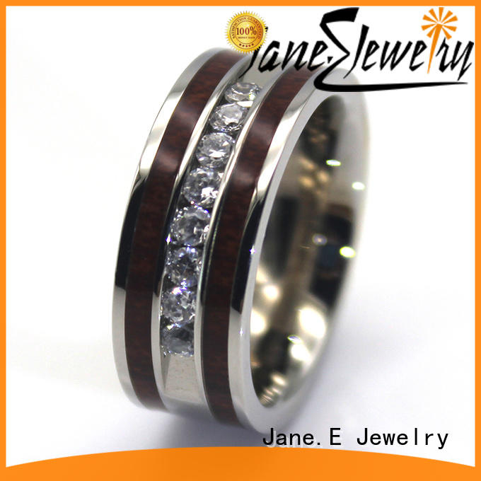 shiny black stainless steel wedding bands multi colors for decoration JaneE