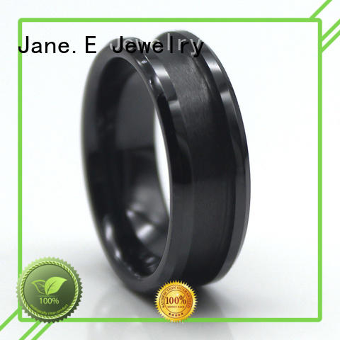 JaneE damascus tungsten band rings silver for handcrafts works