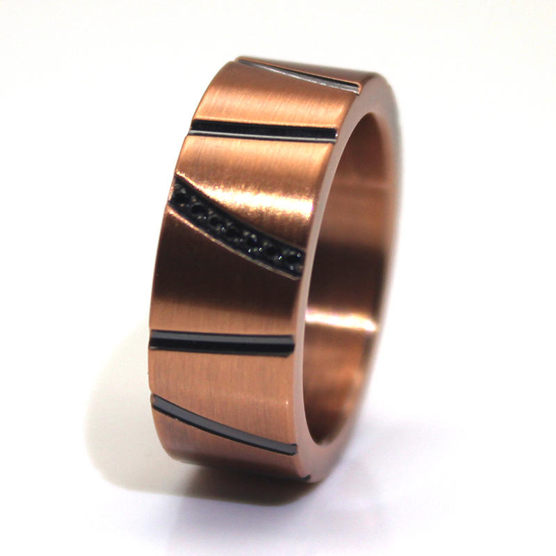 JaneE customized stainless steel band fashion design for weddings-3