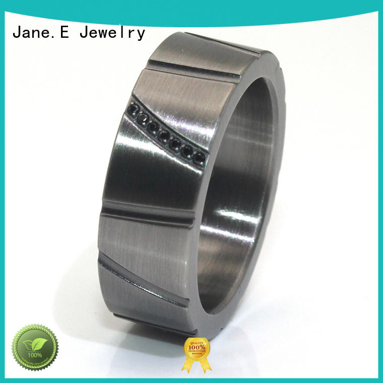 fashion titanium wedding rings gunmetal all size for handcrafts works