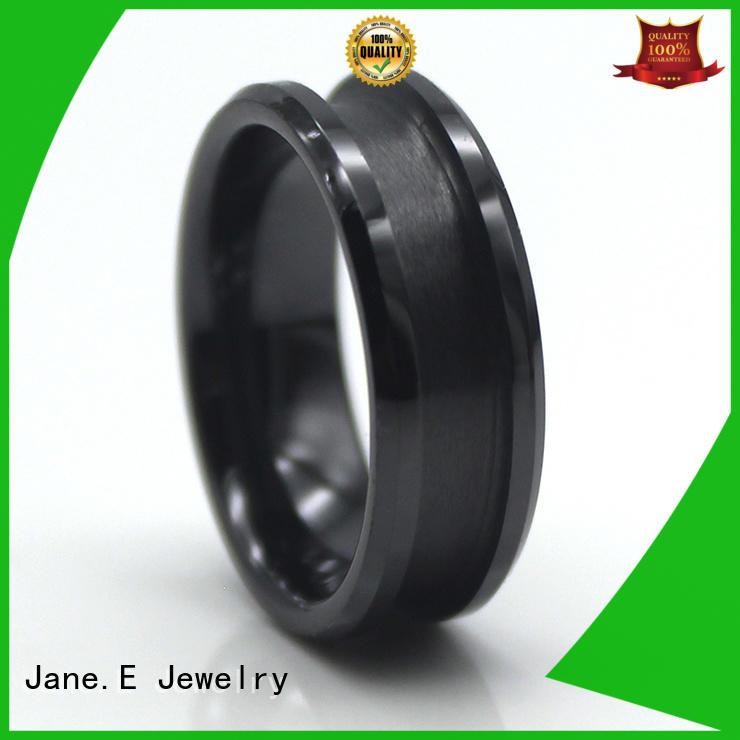 JaneE fashion titanium engagement rings matt for handcrafts works