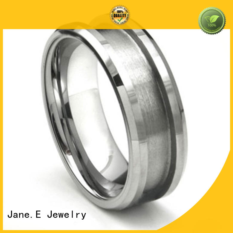 customized black tungsten carbide rings wood crafts popular design for decoration
