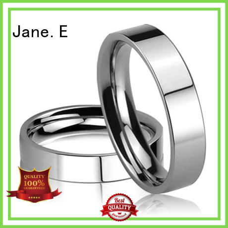 customized custom stainless steel ring brown fashion design for weddings