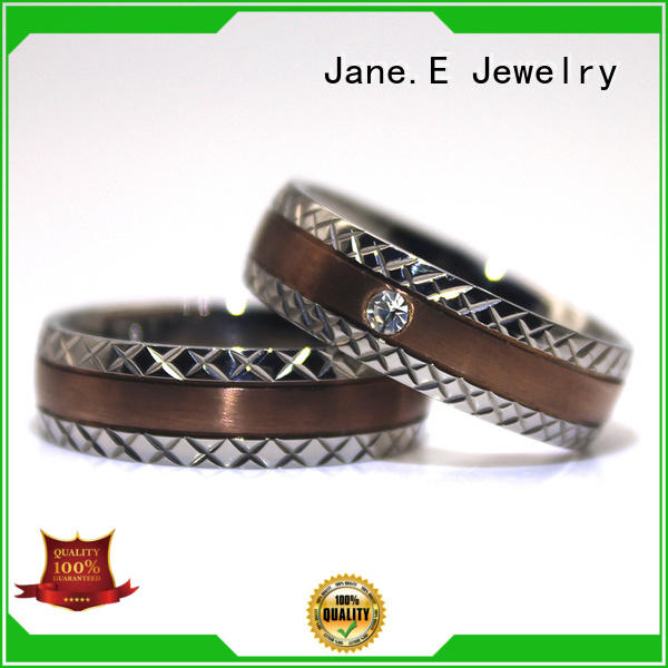 JaneE high quality stainless steel ring blank for inlay popular design for women