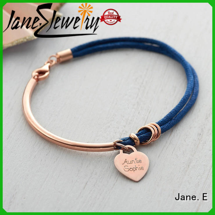 JaneE cotton braided rope bracelet high quality for women