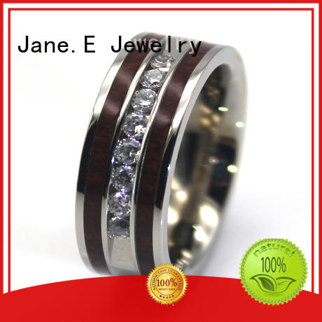 shiny women's stainless steel rings plating top quality for decoration