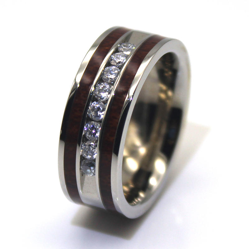shiny black stainless steel wedding bands multi colors for decoration JaneE-2