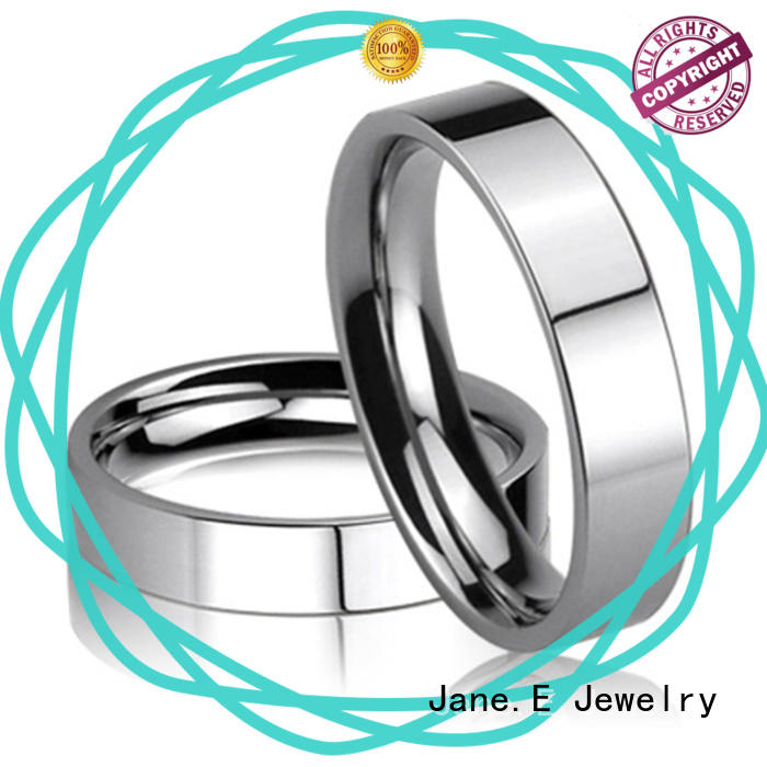 plated stainless steel cz rings top quality for weddings