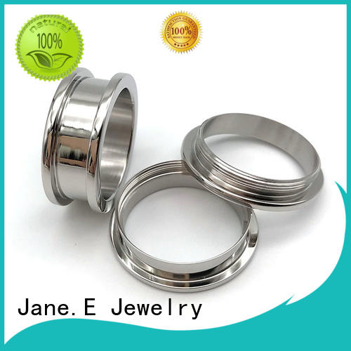 JaneE silver titanium rings for men simple for engagement