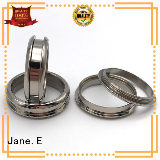 JaneE yellow gold custom titanium wedding rings simple for wedding