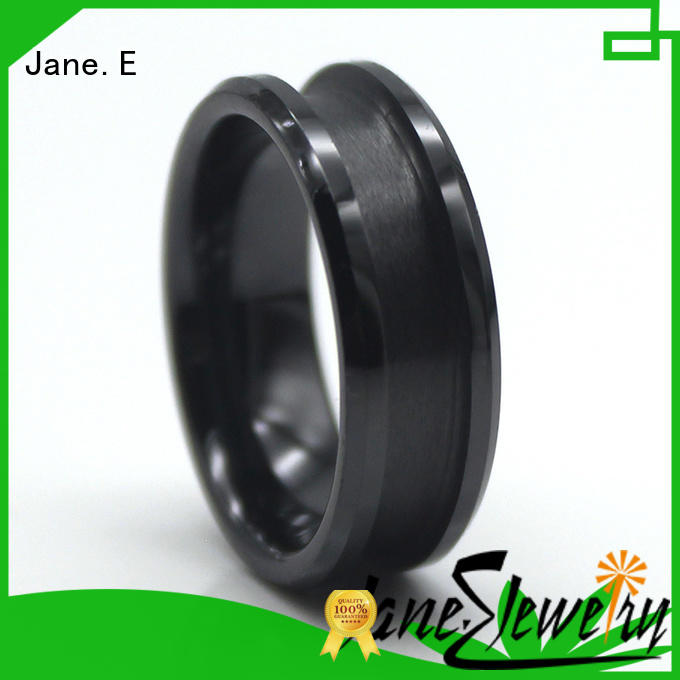 JaneE scratched resistant tungsten band rings all size for wedding