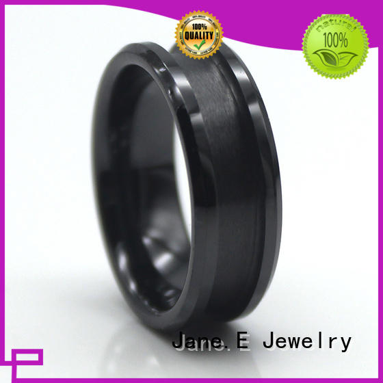 JaneE fully polished finish ceramic engagement ring exquisite manufacturer