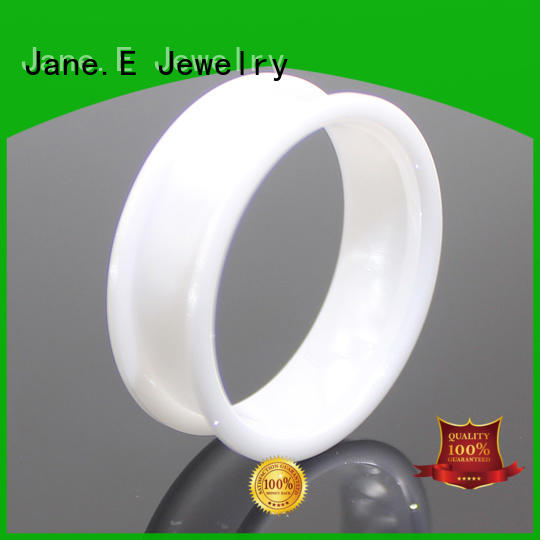 JaneE customized black ceramic wedding band factory direct supplier