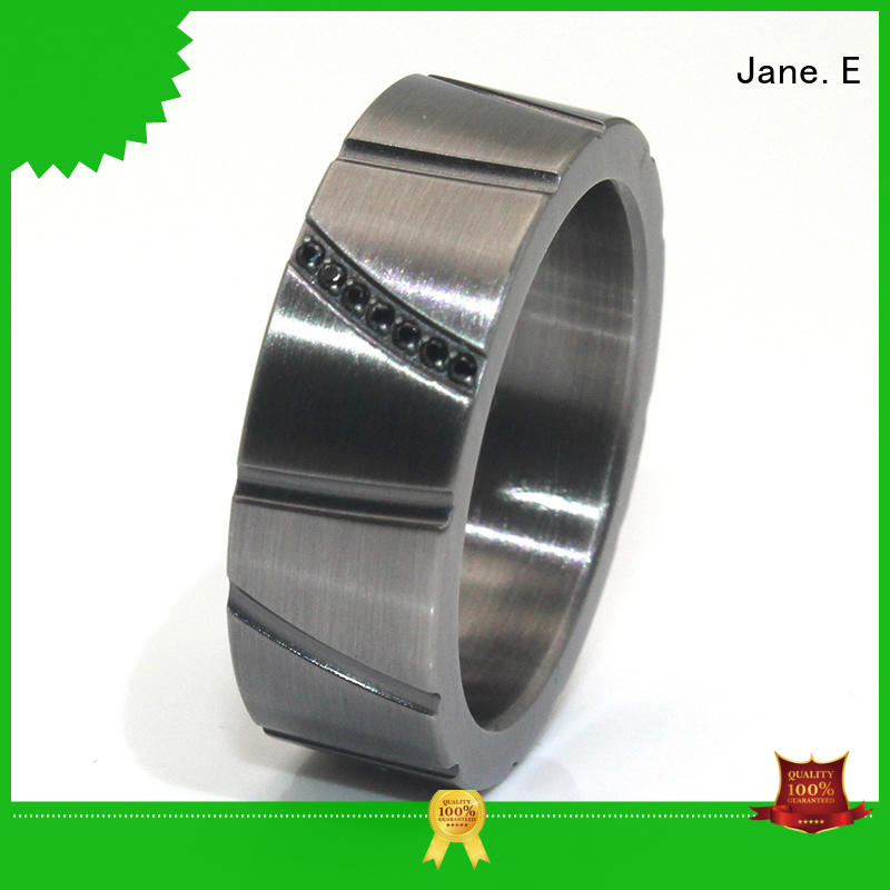 customized titanium ring core 14k yellow gold all size for men