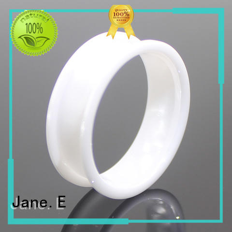 JaneE high quality white ceramic ring popular design for handcrafts works
