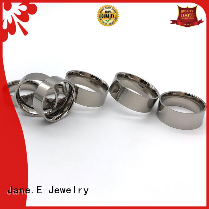 customized white ceramic ring inlay all size for gift